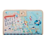 """Spartina 449 """"Greetings From"""" Snap Wallet - Outer Banks"""
